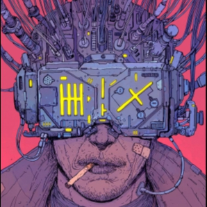 A mechanical mind. The neon signs, an empty soul...