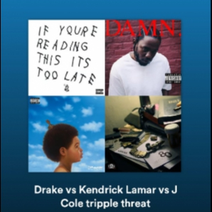 Drake vs Kendrick Lamar vs J Cole tripple threat